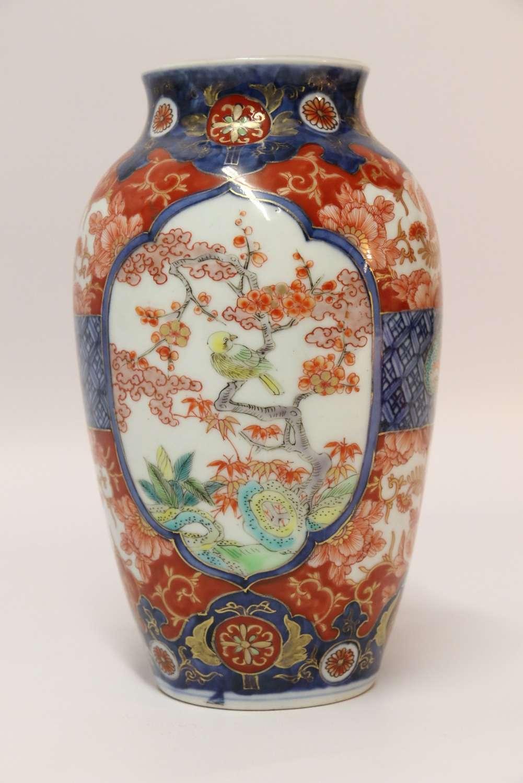 A Japanese Meiji Period Imari Vase