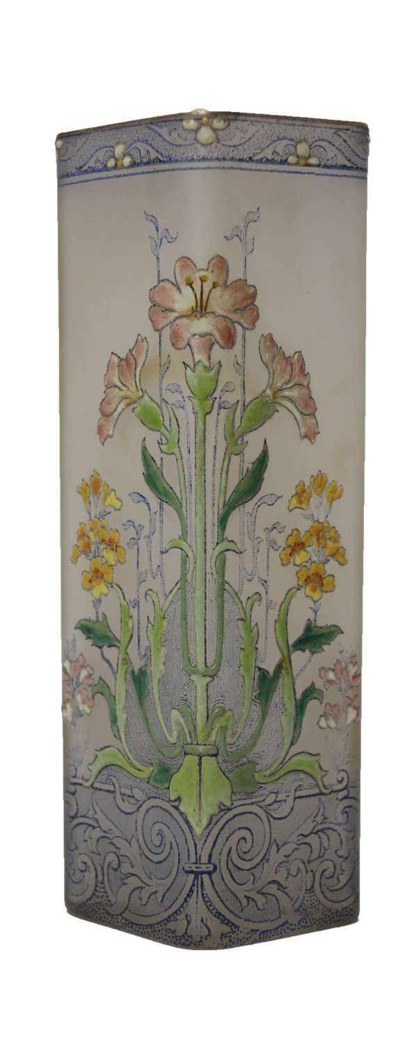 A 19th French Enameled French Vase