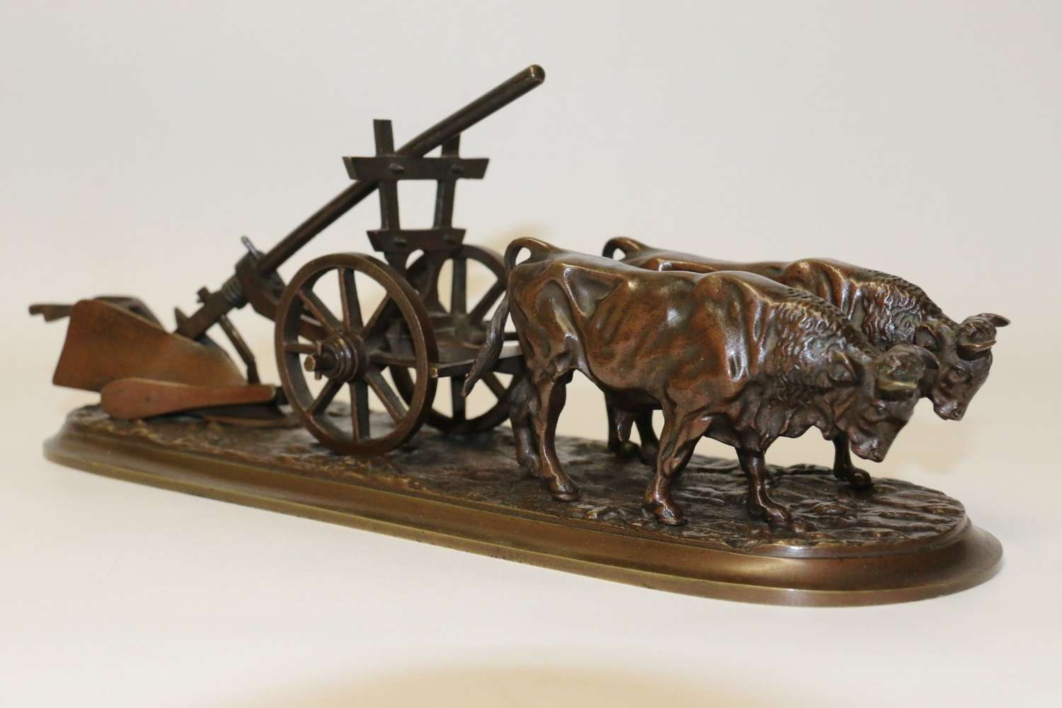 A Fine 19th Century Agricultural Bronze Study