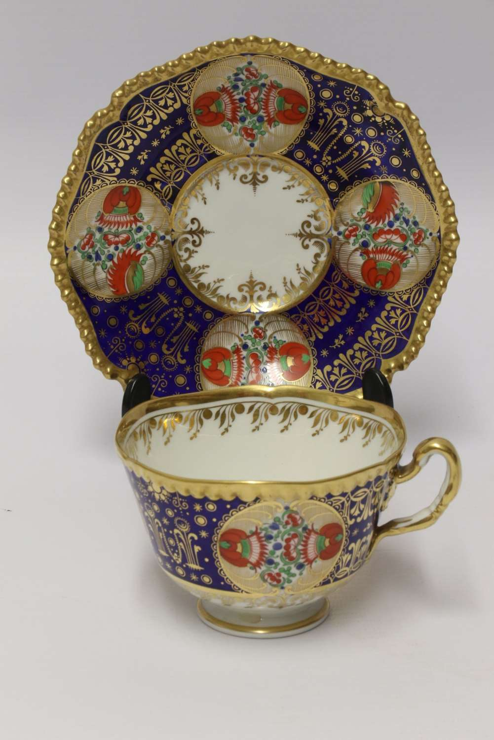 An Early 19th C Chamberlain Worcester Cup And Saucer from The Sir James Yeo Service.