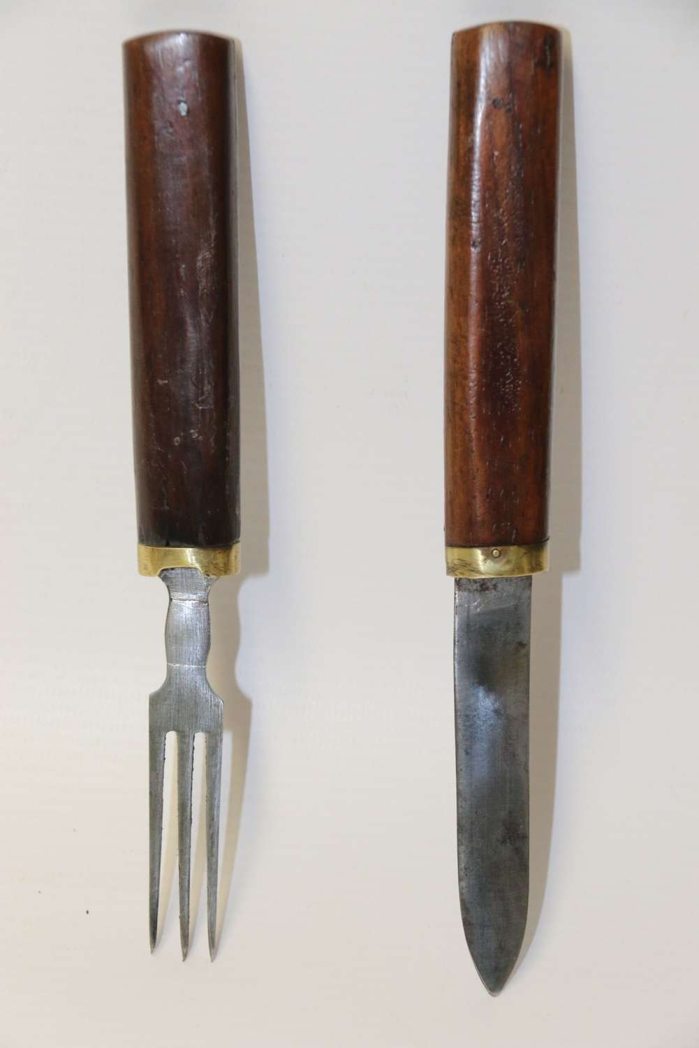An Early 19th C English Military Campaign Knife And Fork Set