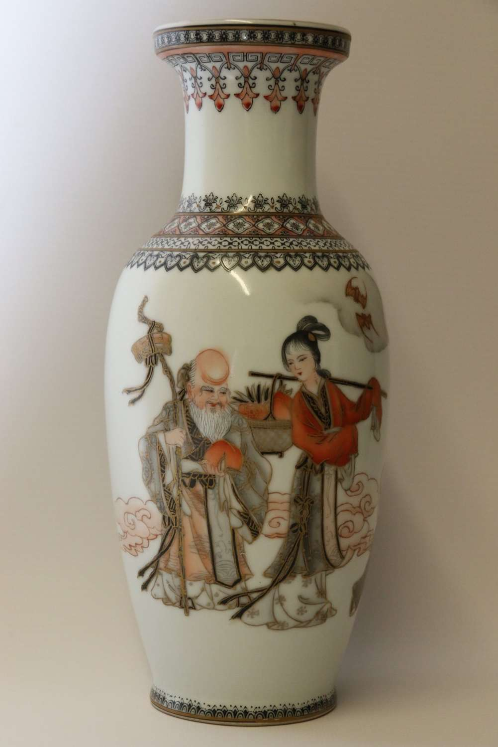 A Fine Chinese  Hand Painted Republican Period Vase
