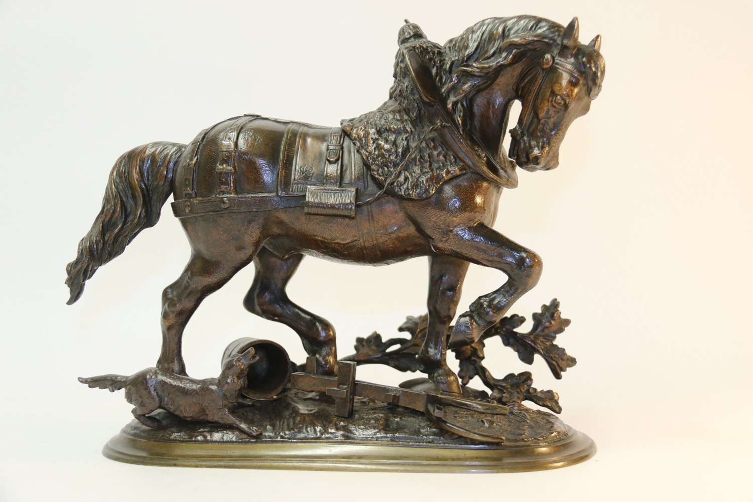 19th Century Bronze Study Of A Shire Horse