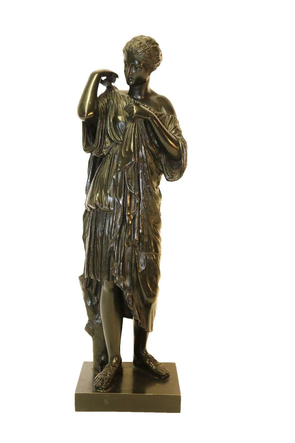 19th Century Classical Bronze Of Diana The Huntress