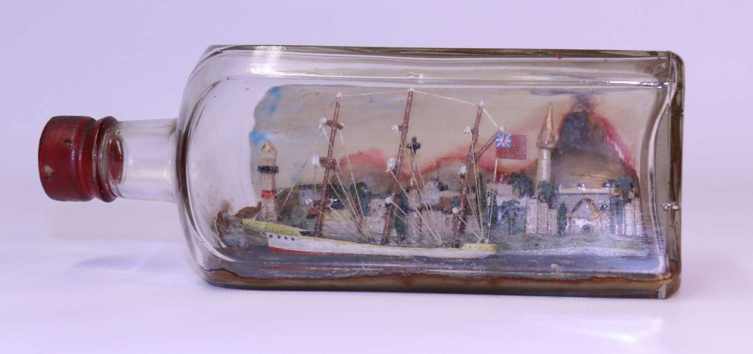 A Fine Quality Ship In A Bottle