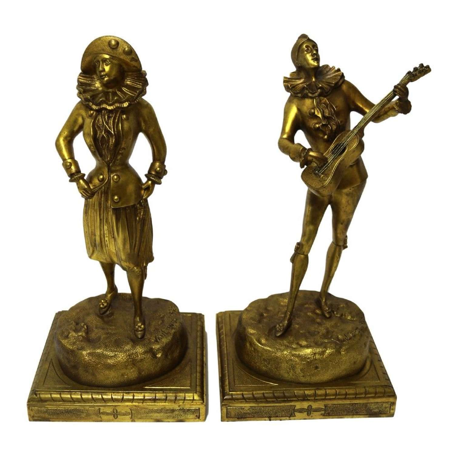 A Rare Pair Of French Bronze Figures By Van Lierde