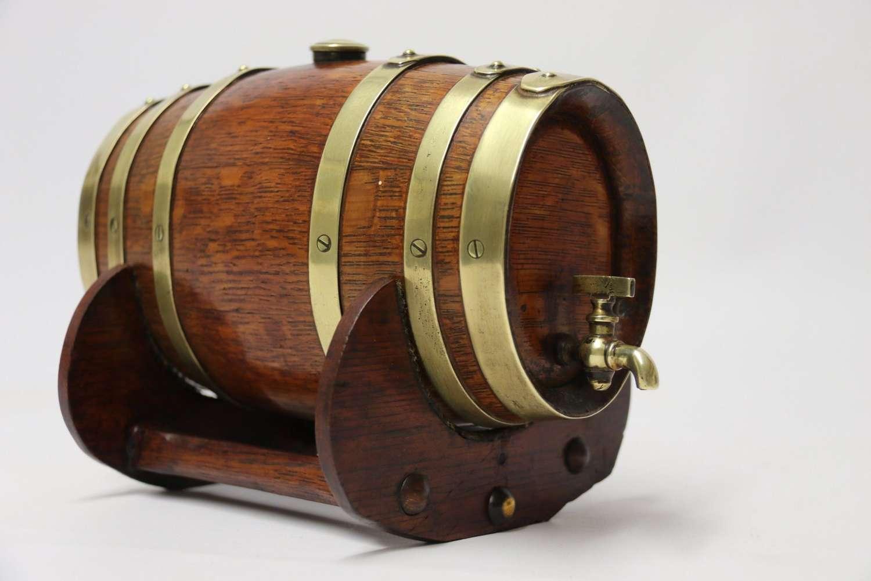 English Oak Miniature Brandy Cask