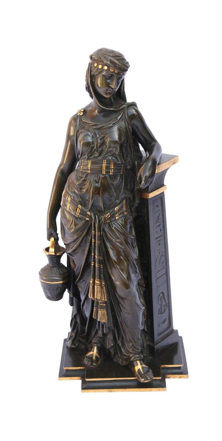 A Superb Bronze Study By Bouret, The Egyptian Water Bearer