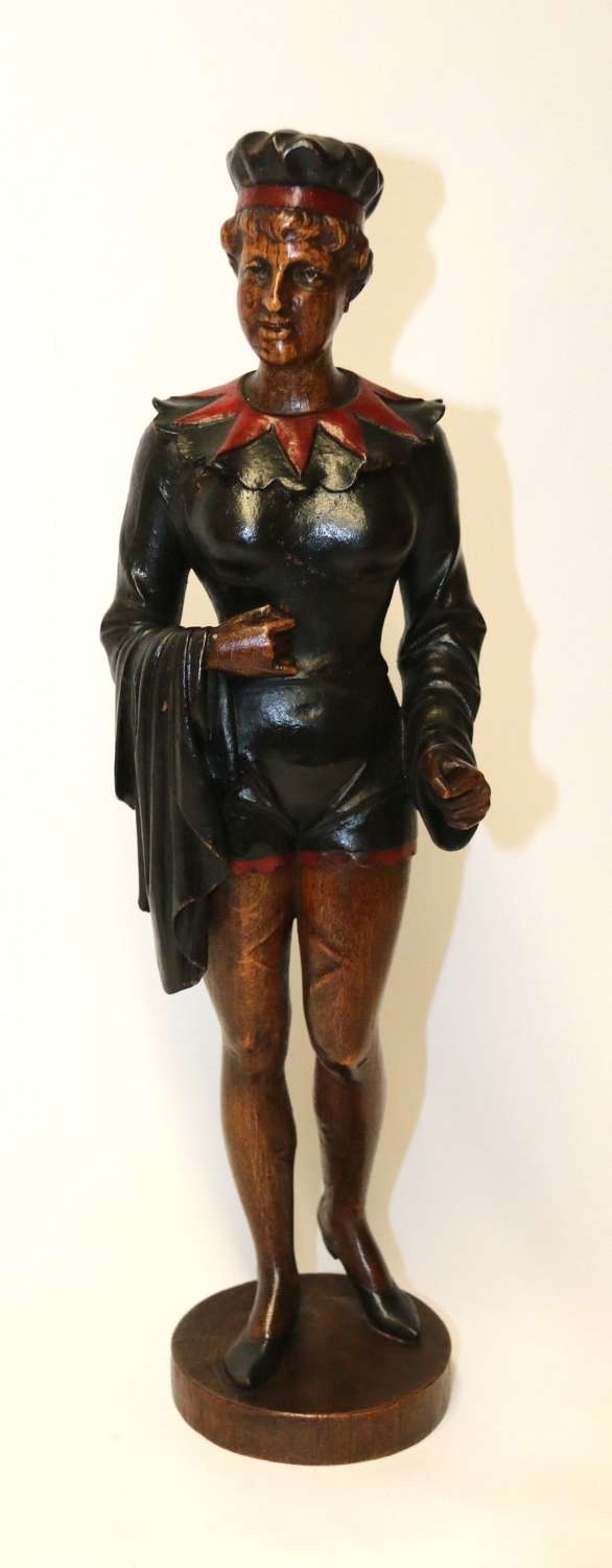 19th Century Actress Carved In Oak