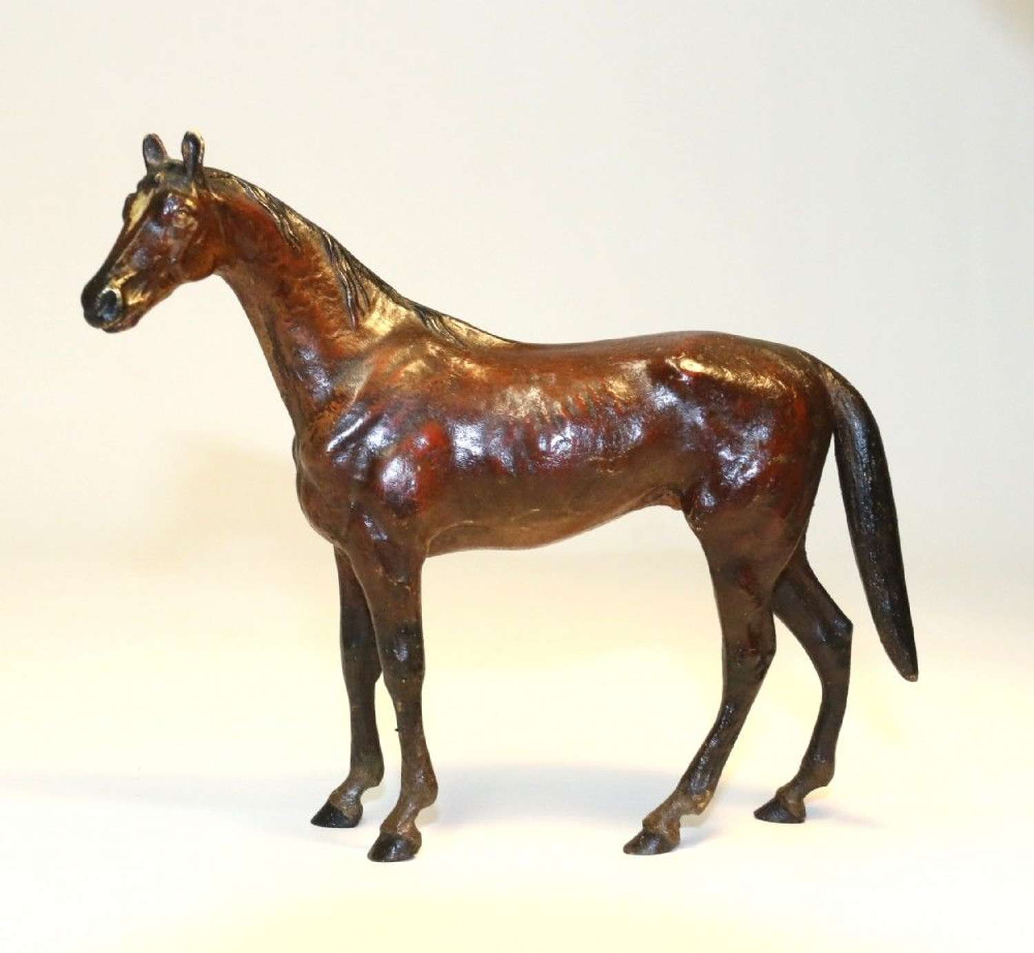 Austrian Cold Painted Bronze Study Of A Race Horse