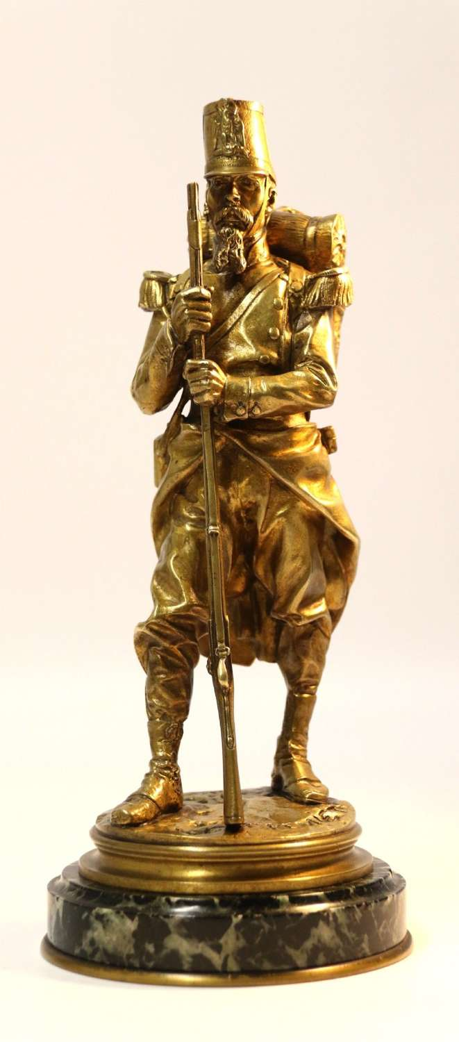 A Superb Bronze Figure Of A Napoleonic Soldier