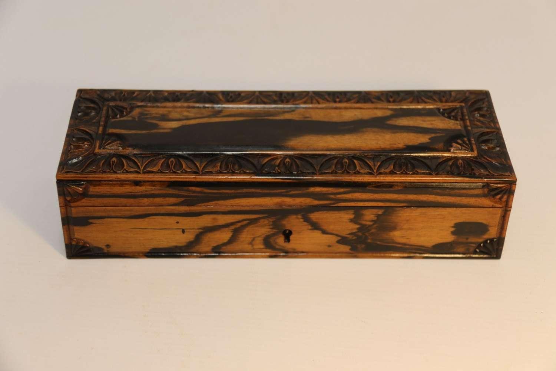A Fine Indian Coromandel Wood Jewel Box