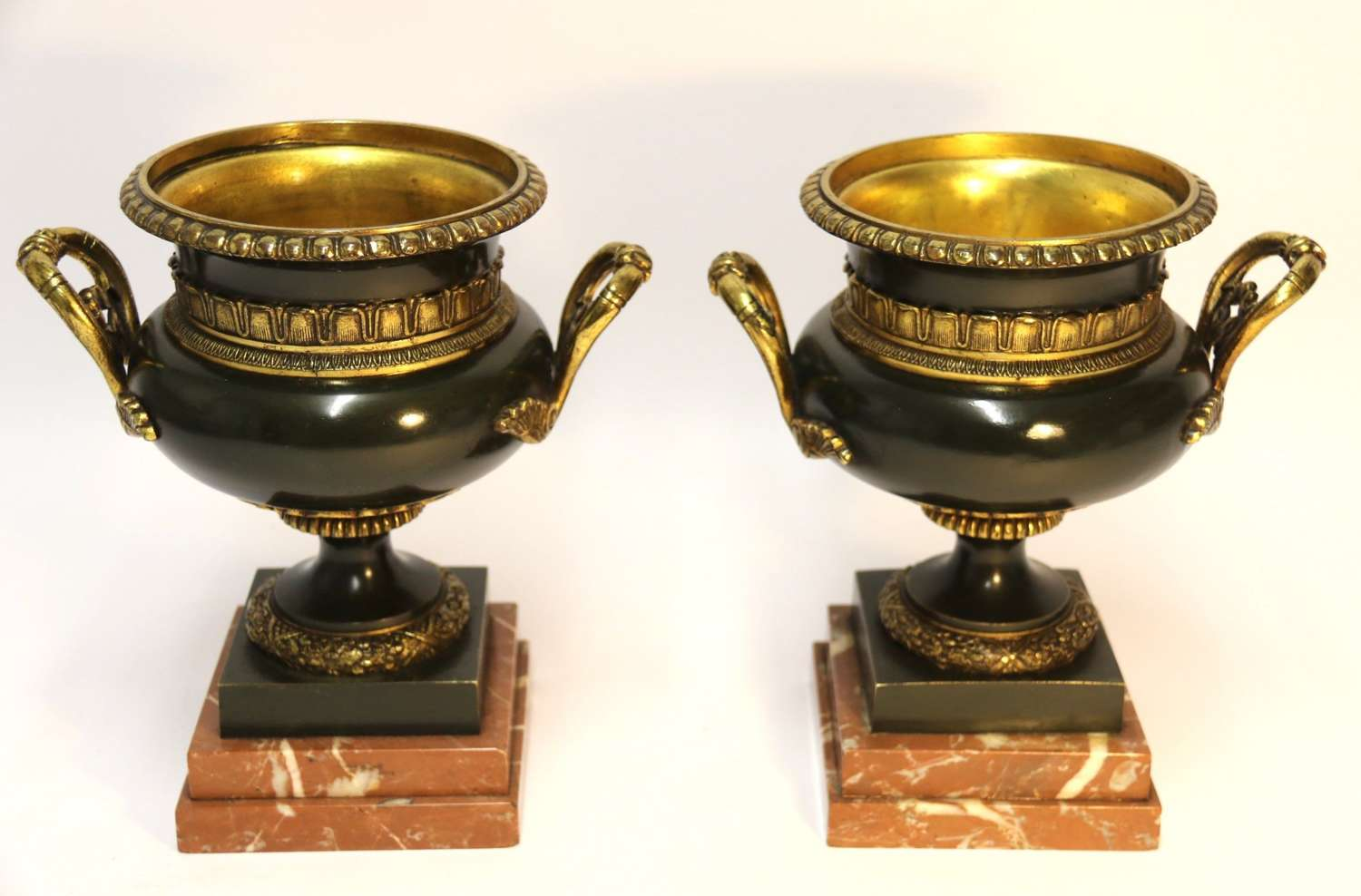 A Pair Of French Bronze Urns 19th Century
