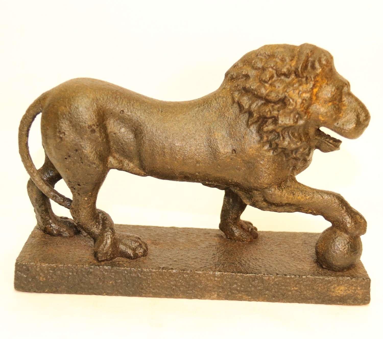 A Rare George III Lion Door Stop