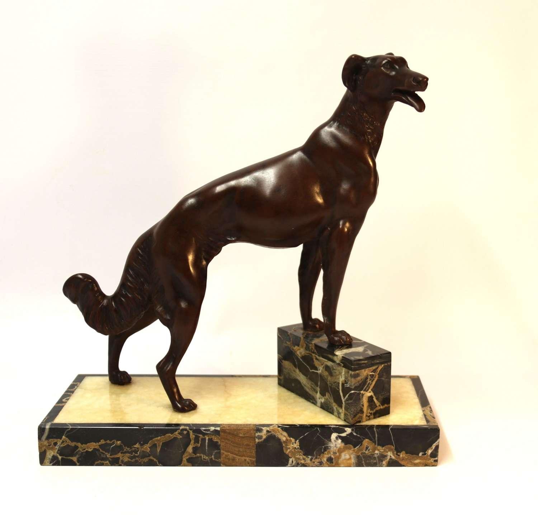 A French Study Of A Borzoi Dog
