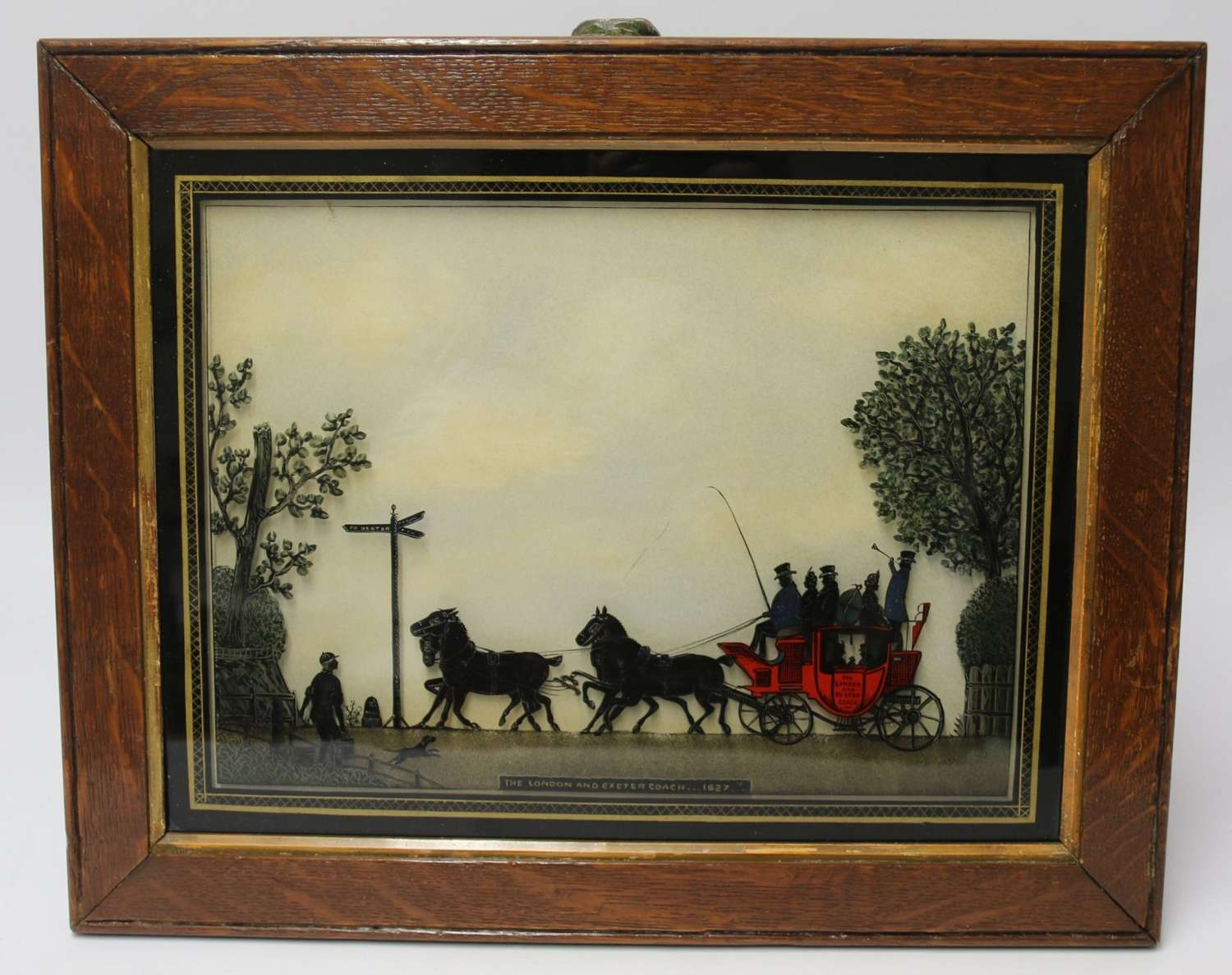 A Superb Early 19th Century Reverse Painting On Glass