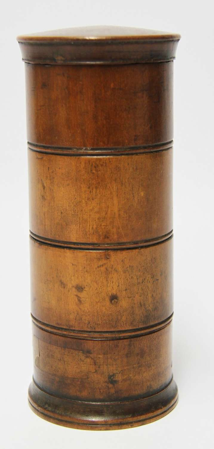An Early 19th Century Treen  Spice Container