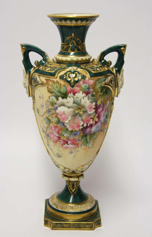 Royal Worcester Twin Handled Vase