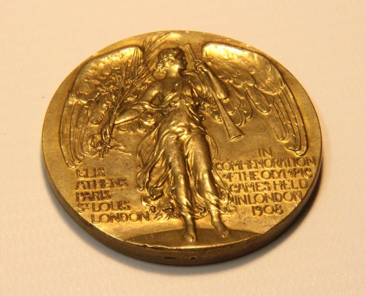 A Rare Official Medal For The 1908 London Olympics