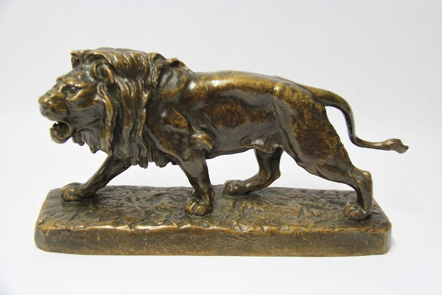 A Late 19th Century Bronze Study Of A Lion By Louis Vidal
