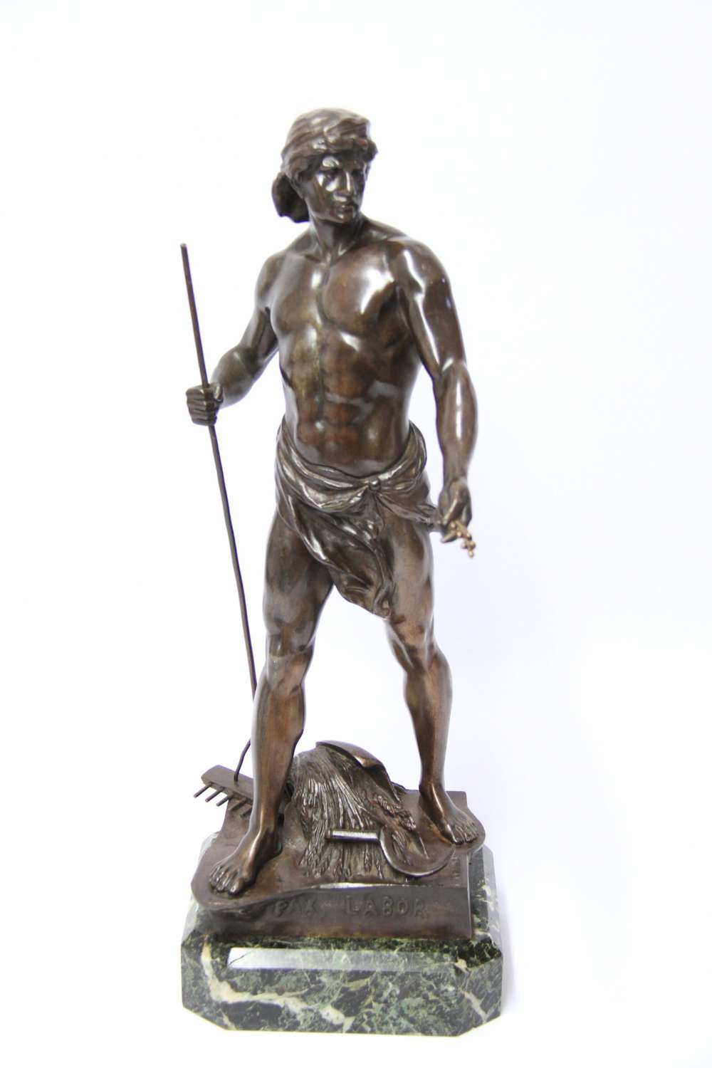 A Fine French  Bronze Study Of A Agricultural Worker
