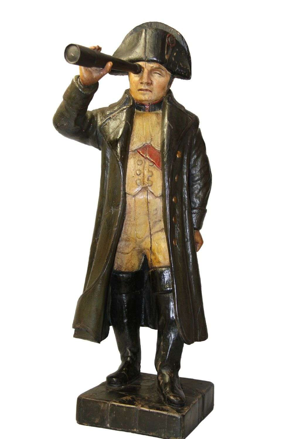 A Very Large Wooden Figure Of Napoleon Bonaparte Over 100cm Tall