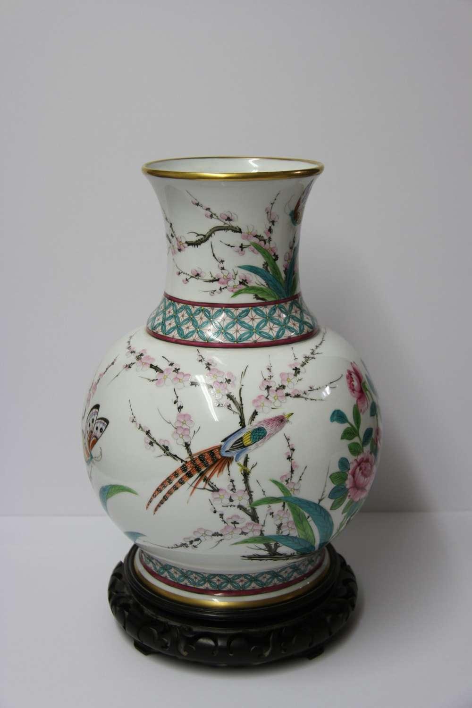 An Impressive French Porcelain Vase By Samson
