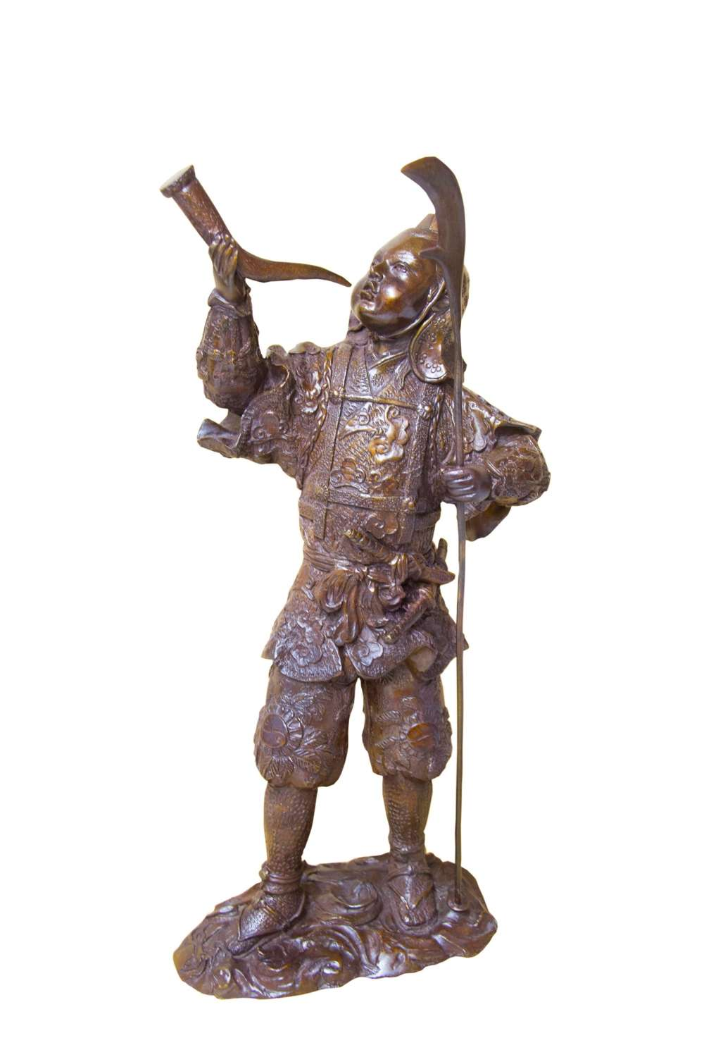 A Chinese Bronze Study Of A Japanese Warrior