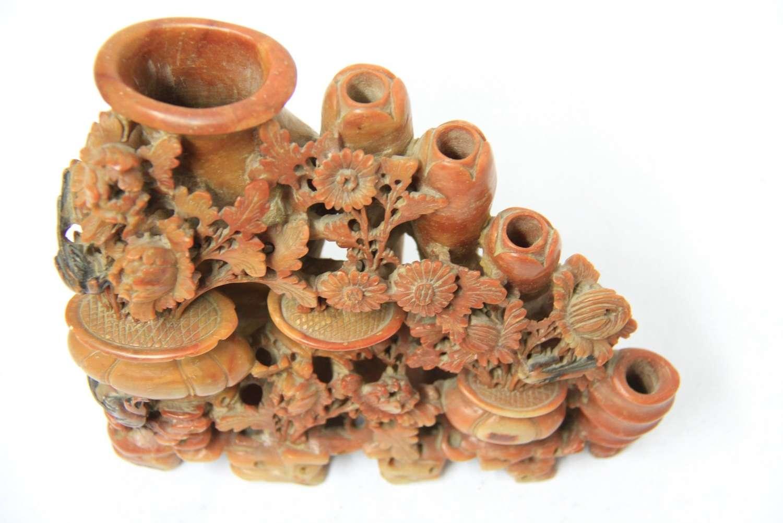 Ornate Chinese Soapstone