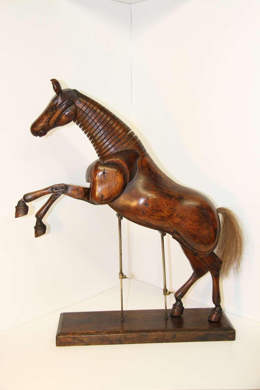 Artists Articulated Mahogany Horse