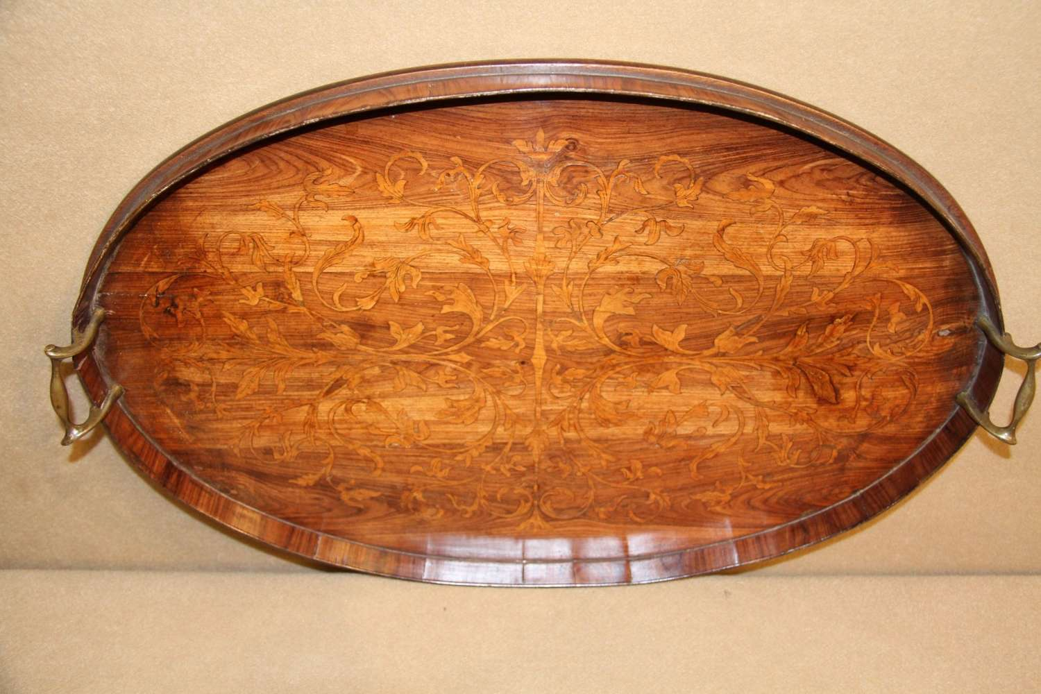 A Fine George III Marquetry  Tray