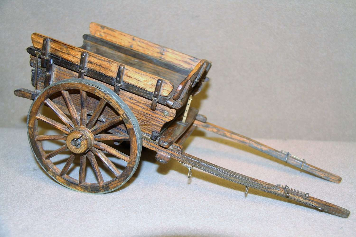 Scale Model Of A Late 19th Century Tipping Pony Cart