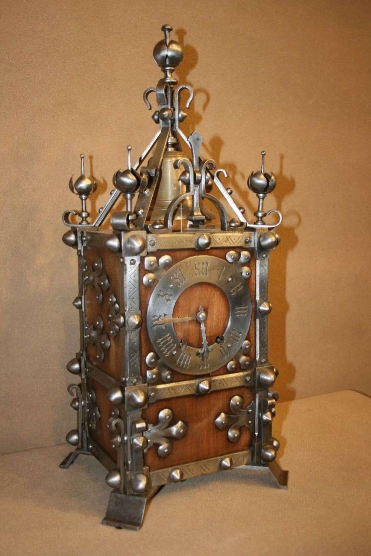 An Impressive Medieval Style Bracket Clock And Bracket