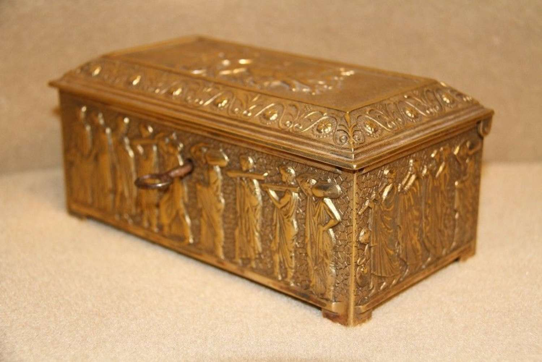 A French Gilt Bronze Jewel Box