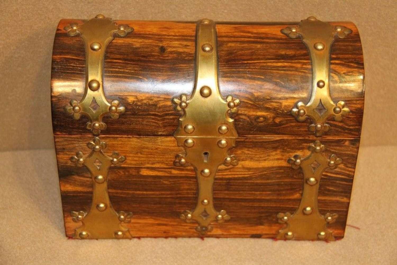 Victorian Coromandel Wood Stationary Box