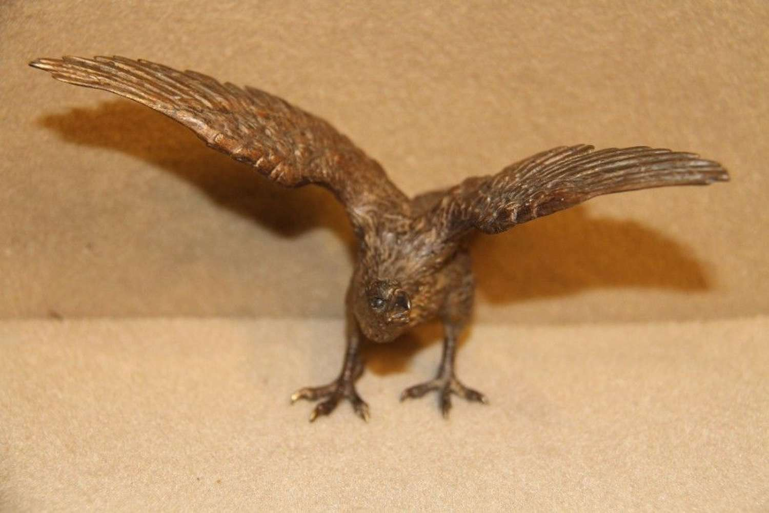 Austrian Cold Painted Bronze Of A Golden Eagle