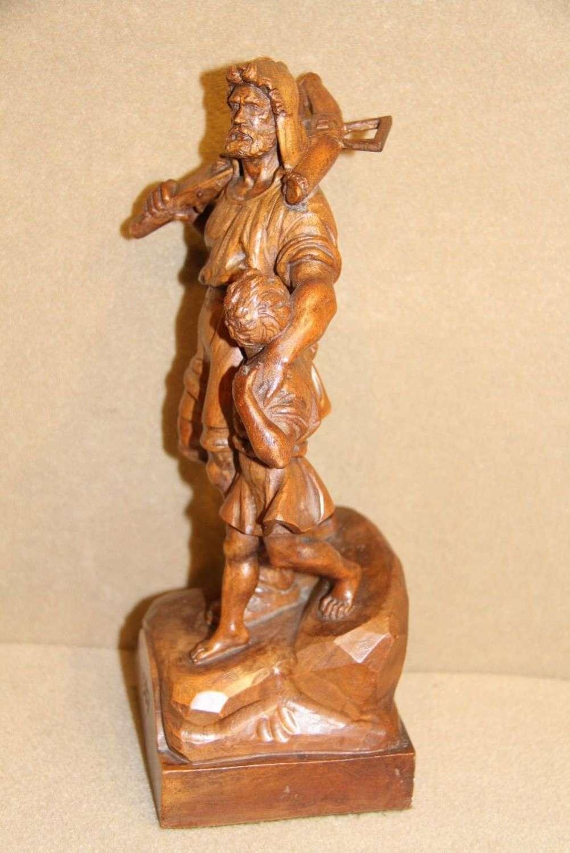 Walnut Carved Study Of William Tell