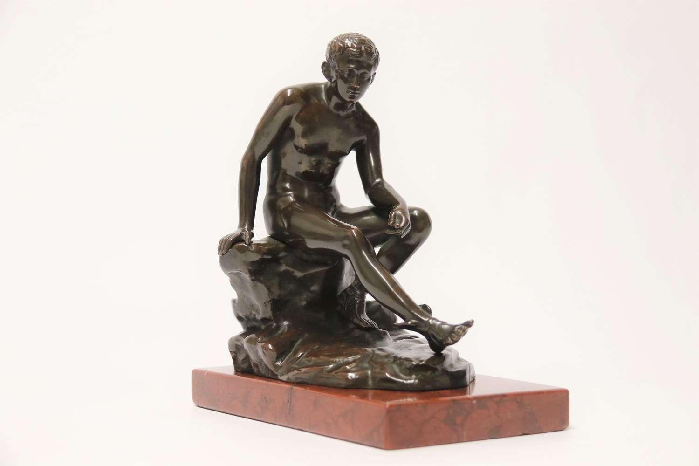 19th century bronze figure of